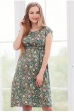 3-32504 Платье  для беременных женщин зеленый/розовый