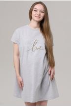 3-70505AV Платье женское для беременных серый меланж