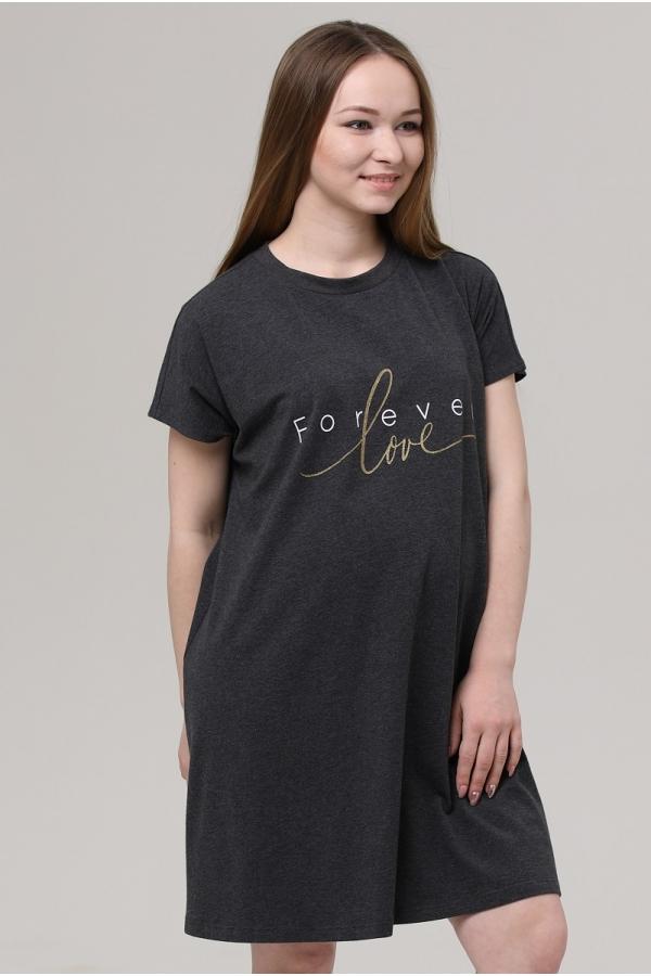3-70505AV Платье женское для беременных темно-серый