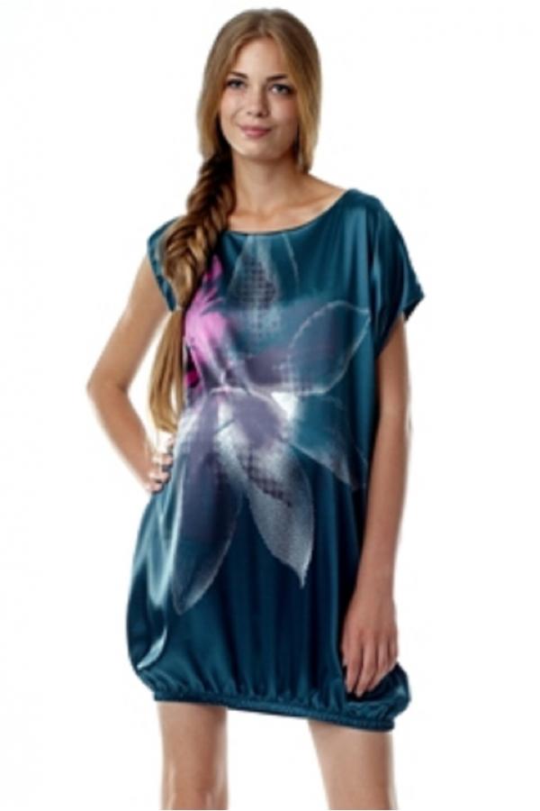 4120.4042 Платье для беременных со спущенным рукавом изумруд