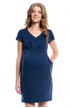 4147.353 Платье трикотажное Х-образного силуэта тёмно-синий