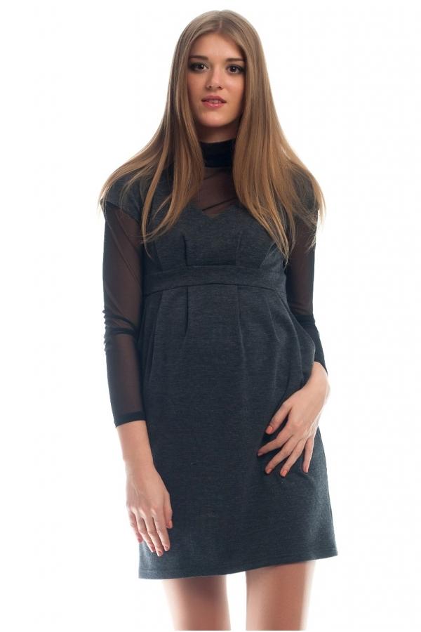 4147.4126 Платье Х-образного силуэта серый