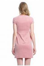 4147.4224 Платье Х-образного приталенного силуэта коралловый