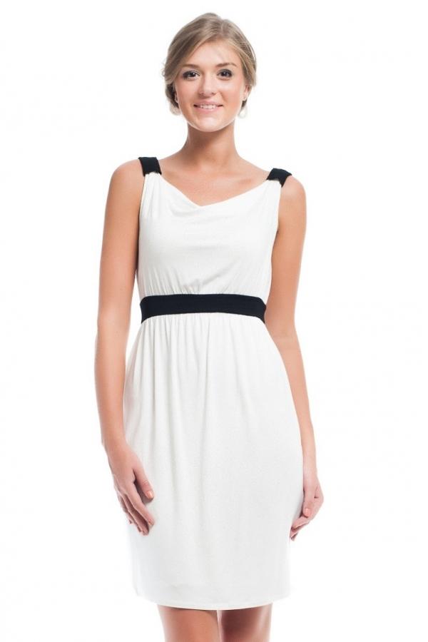 4166.1781 Платье облегающего силуэта молочный с черным