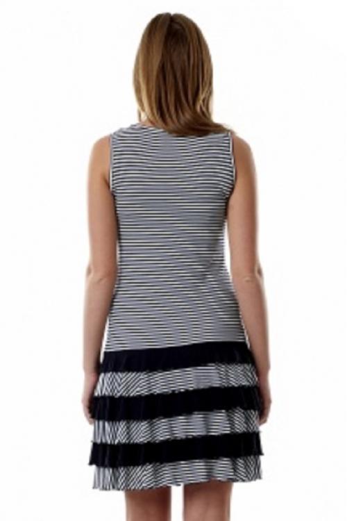 4191.1447 Летнее платье-мини для беременных с оборками бело-голубой