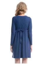 4222.3964 Платье трикотажное  Х-образного силуэта синий