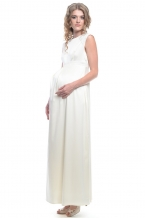 4259.6156 Платье Х-образного силуэта молочный+бежевый