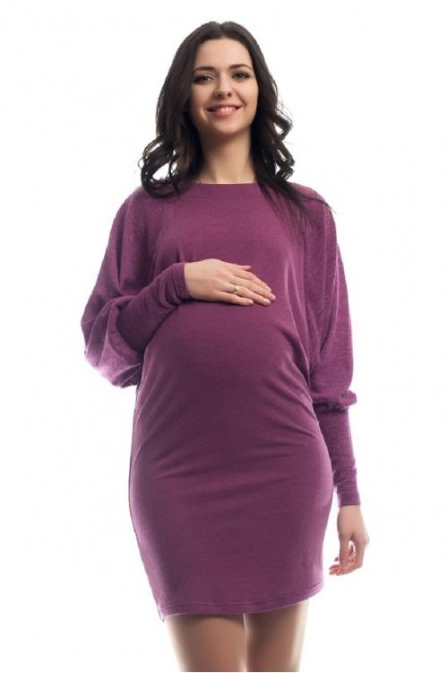 4272.302 Платье трикотажное прямого силуэта комбинированное сиреневый