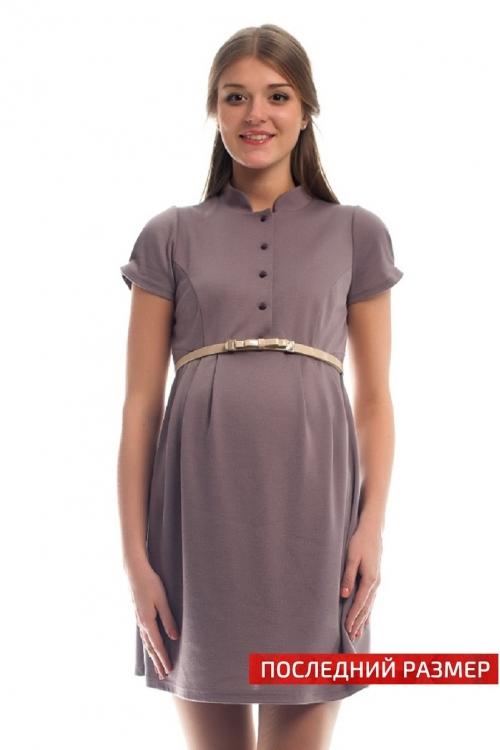 4279.290 Платье трикотажное Х-образного силуэта  для кормления с поясом пенка
