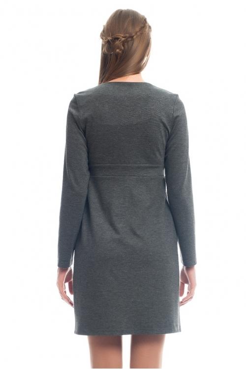 4286.4126 Платье трикотажное Х-образного силуэта серый