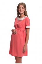 4319.4057 Платье Х-образного силуэта светло-коралловый