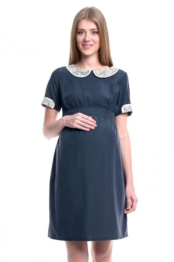 4319.4069 Платье Х-образного силуэта темно-синий