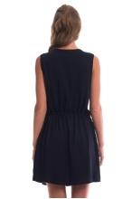 4321.4168 Платье силуэта баллон молочный+красный+тёмно-синий