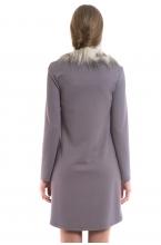 4362.4207 Платье-туника трикотажная со съёмным воротником серый+мокко