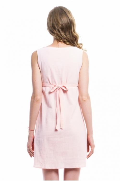 4391.6141 Платье Х-образного силуэта для кормления жатка пудра