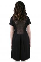 4399.353 Платье X-образного силуэта темно-синий