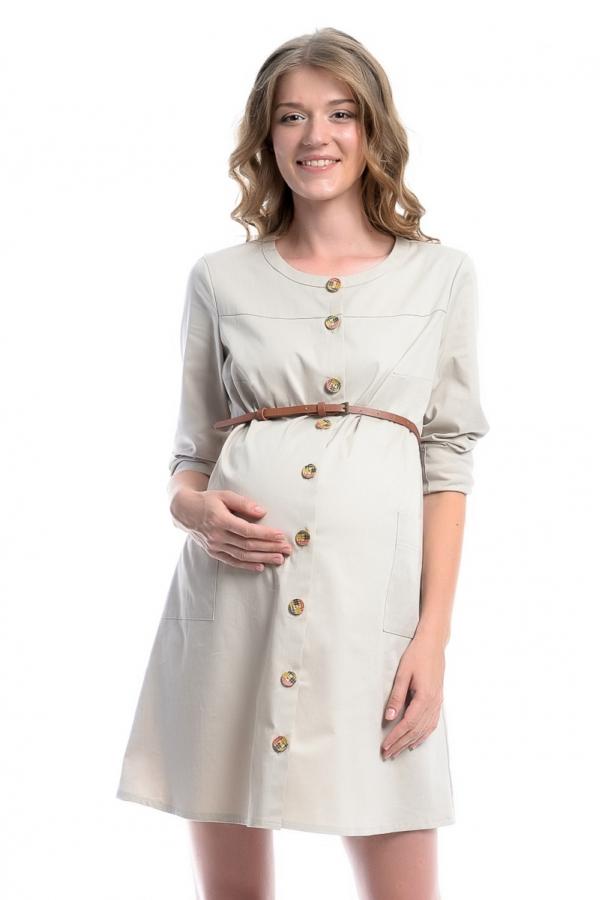 4408.2011 Платье Х-образного силуэта бежевый