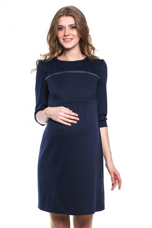 4436.4208 Платье трикотажное Х-образного силуэта синий