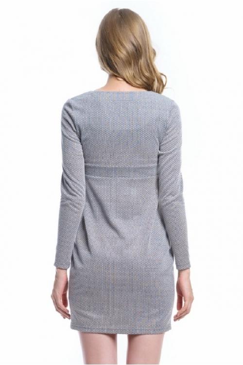 4462.4223 Платье Х-образного силуэта серый жаккард