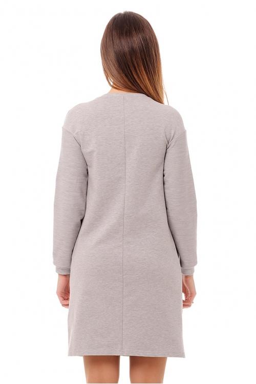 4494.1851 Платье трикотажное для кормления с принтом
