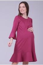 4548.4180 Платье прямого силуэта для кормления лиловый