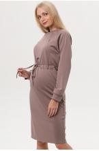 7ПТ108-30134 Платье для беременных и кормящих женщин кофейный