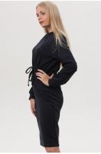 7ПТ108-30134 Платье для беременных и кормящих женщин темно-синий