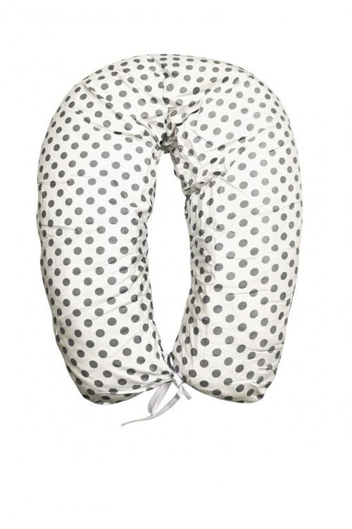 01 - Подушка многофункциональная для беременных и кормящих женщин (бирюзовый/белый/конфетки)
