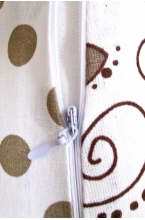 01 - Подушка многофункциональная для беременных и кормящих женщин (кофейный/пироженки/горох)