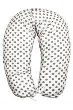 01 - Подушка многофункциональная для беременных и кормящих женщин (малина/серый/конфетки)