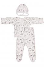 КДС 1/1 Комплект детский стерильный (ползунки,распашонка,чепчик) молочный/розовый