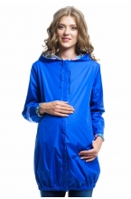 Куртка-плащёвка двусторонняя на резинке по низу