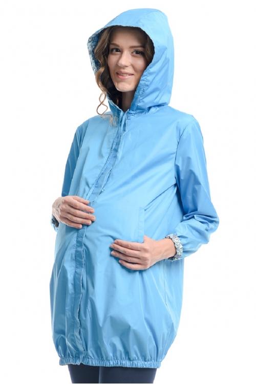 1038.7064 Куртка А-образного силуэта флора бирюза-серый+лаванда