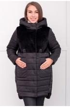 7КТ210-10413 Пальто MIRACLE универсальное с синтепухом черный