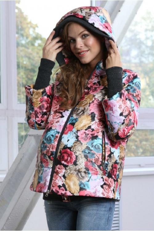 Куртка EMILIYA цветочный принт букет