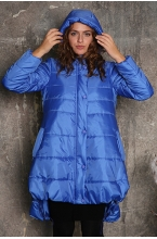 Куртка зимняя LAURA с капюшоном тёмно-синий