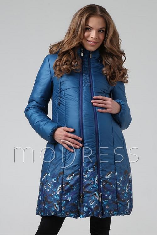 Пальто зимнее NAOMI морская волна