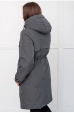 Парка ФЭСТ зимняя со съёмной вставкой на живот серый меланж