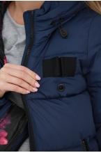 Зимний пуховик 2 в 1 с утеплителем синтепух MELISSA синий