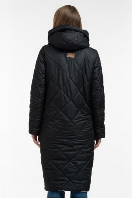Зимнее пальто SOFIYA  чёрный пиксель